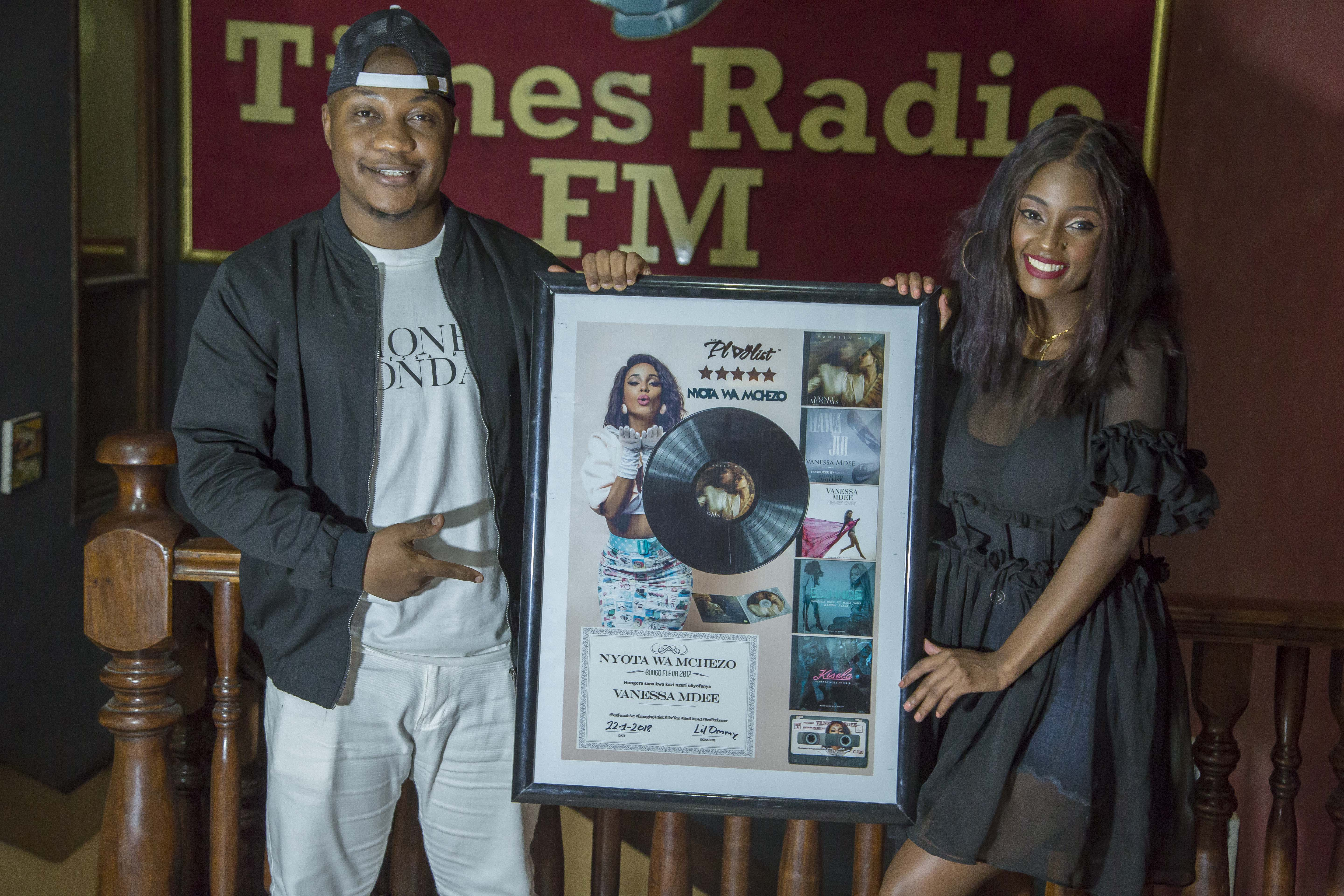 Vanessa Mdee awarded music plaque by Times FM - Notjustok East Africa