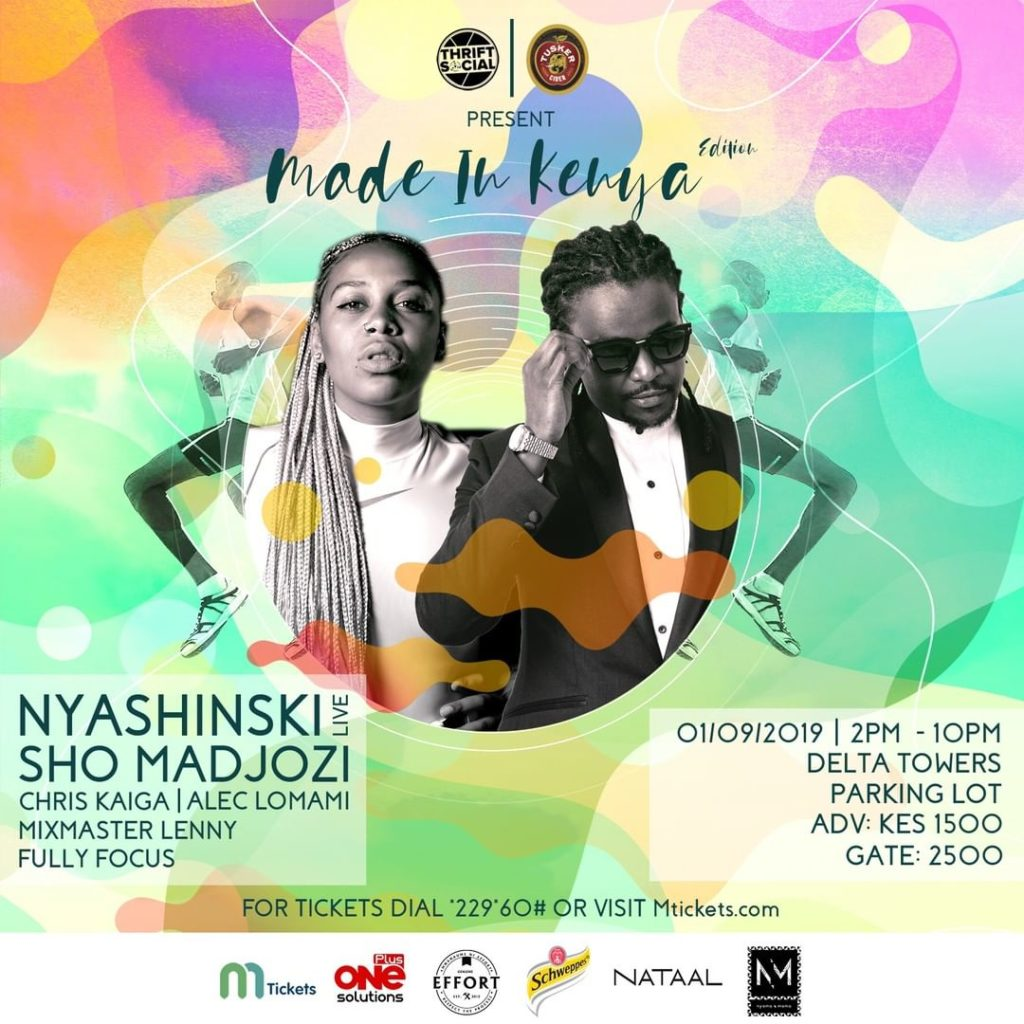 Nyashinski & Sho Madjozi to headline Thrift Social