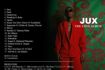 """Juma Jux unveils """"The Love Album"""" tracklist"""