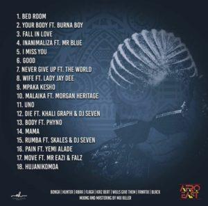 Harmonize - Afro East Album tracklist