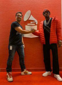 Diamond Platnumz with World Music Manager; Marlon Fuentes at The Recording Academy