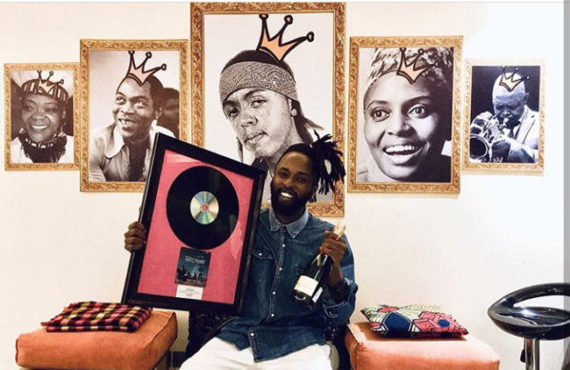 Kagwe Mungai receives his first Platinum Plaque