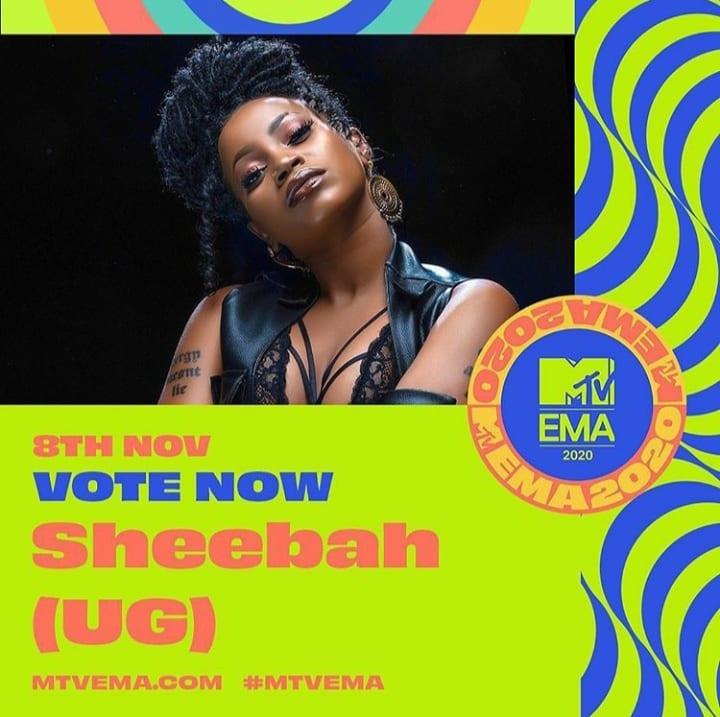 Sheebah Gets Nominated For MTV European Music Awards