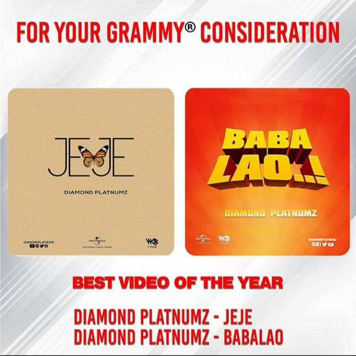 "Diamond Platnumz considered for ""Best Video Of The Year"" Category"