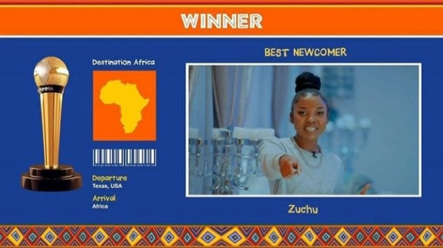 Zuchu: Winner Best New Comer