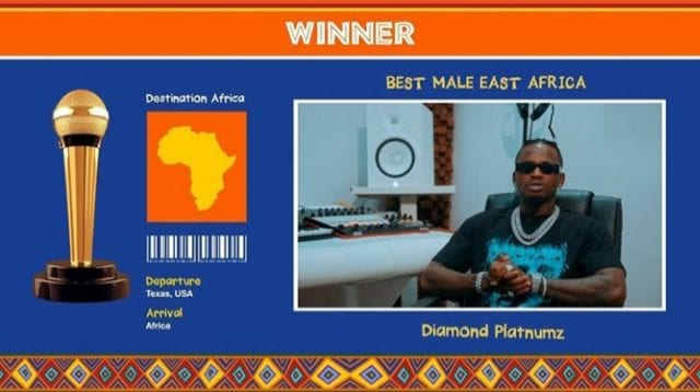 Diamond Platnumz: Winner Best Male Artist in East Africa
