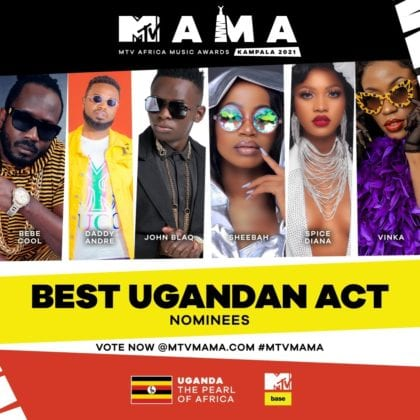 """Best Ugandan Act"" MAMA nominees"