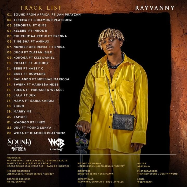 """""""Sounds From Africa"""" tracklist"""