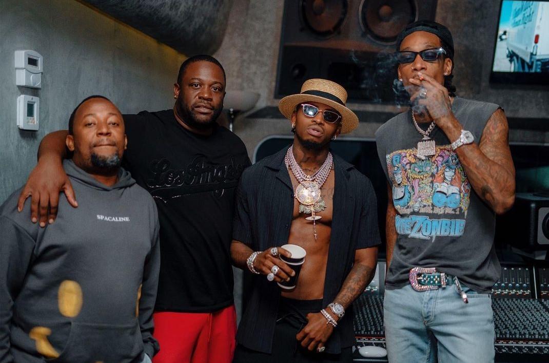 Diamond Platnumz and his team with Wiz Khalifa
