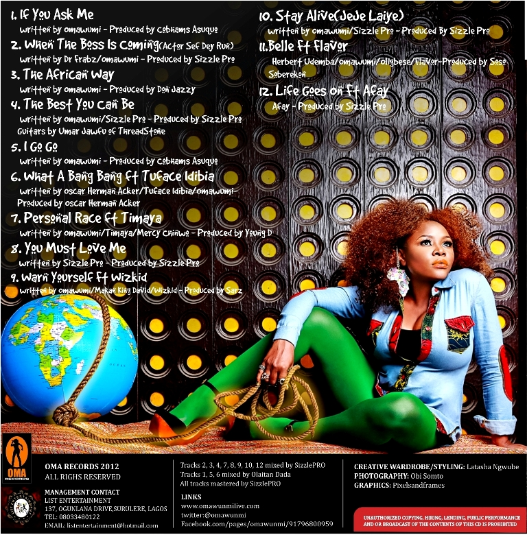 Omawumi back (tracklist)