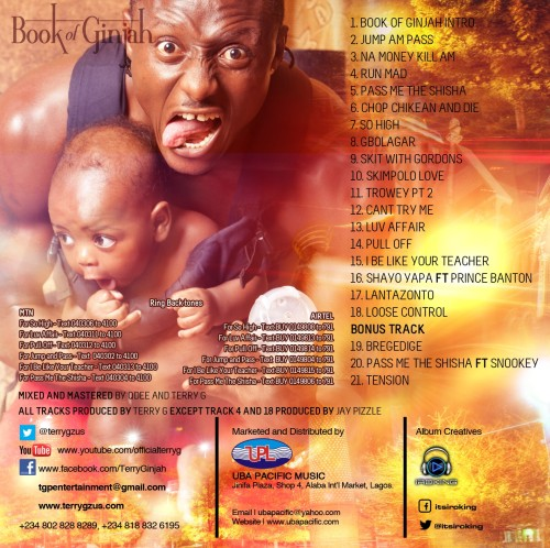 Terry G Book of Ginjah - Track listings