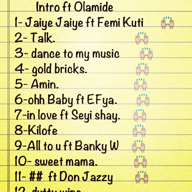 Wizkid album tracklist