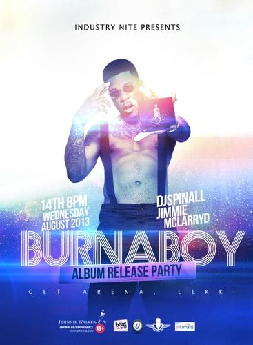 Burna Boy Industry Nite Album Release Party