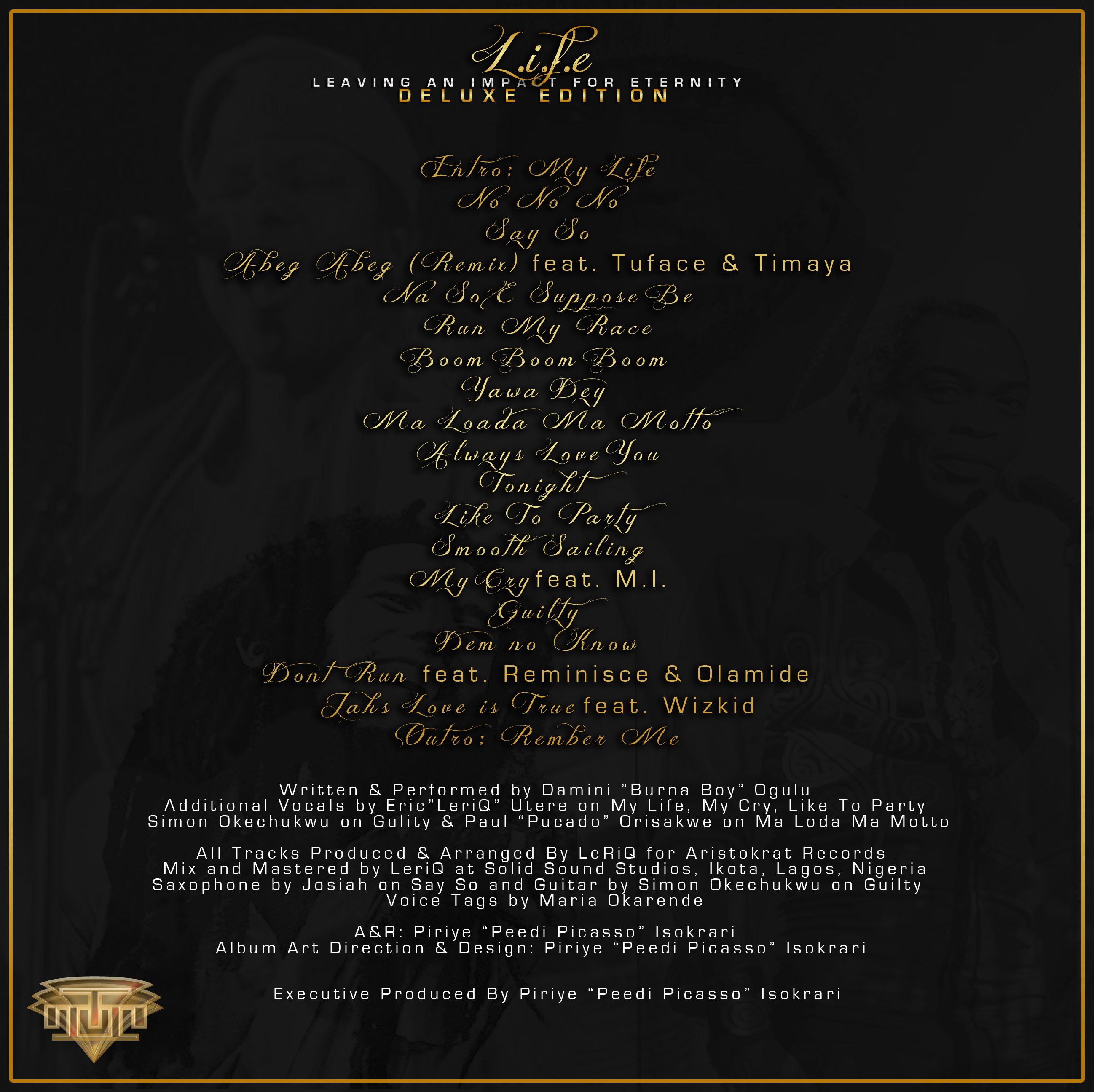 Burna Boy LIFE DeluxeTracklist