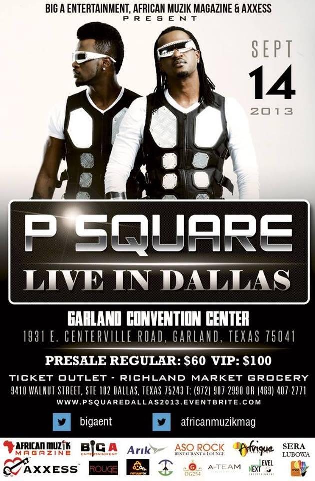 VIDEO: P-Square US Tour | Sept 14, Dallas, Texas
