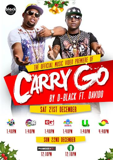 D-Black Davido Carry Go vid Art