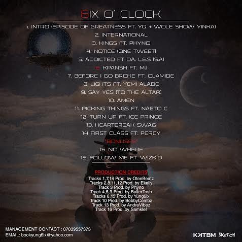 Yung6ix Album back Art