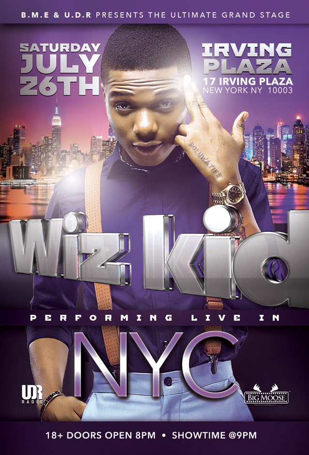 Wizkid Live In New York Promo Art
