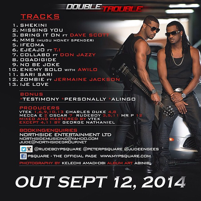 P-Square Double Trouble Tracklist