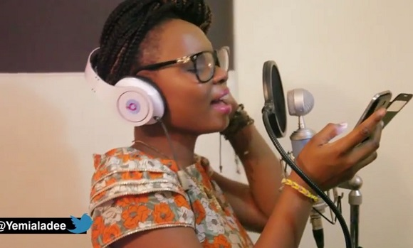 Yemi Alade Kissing Studio Session