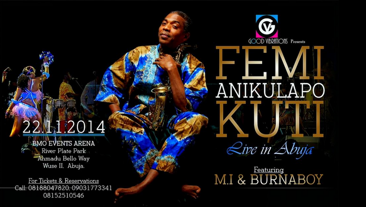 Femi Kuti Abuja