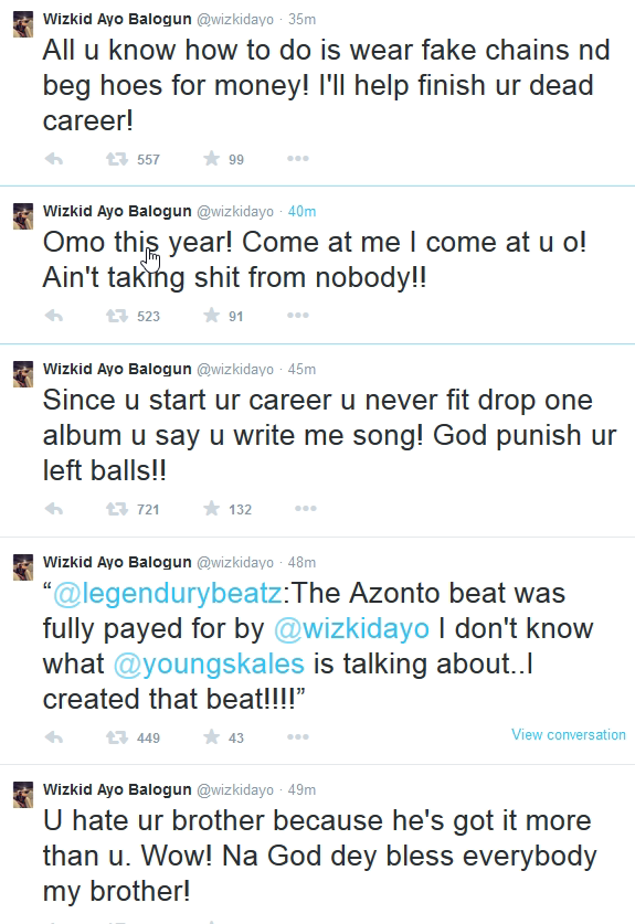Wizkid three - capture image