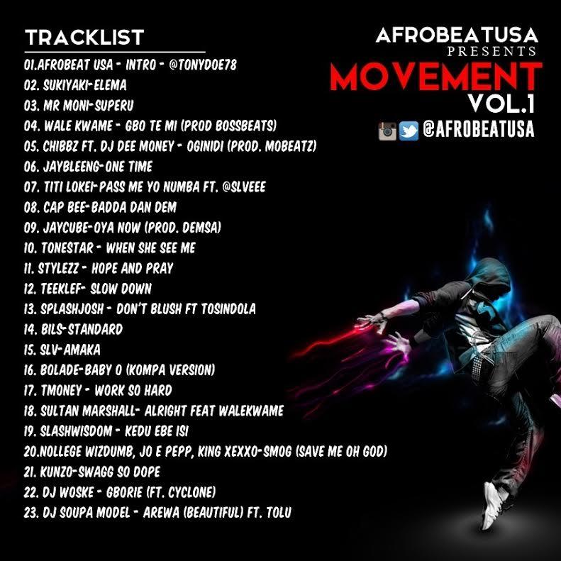 Afrobeat USA Movement Vol 1 Back