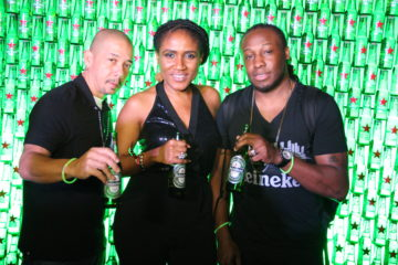 DJ BLACK CHINEY AND SENIOR BRAND MANAGER HEINEKEN NGOZI NKWOJI AT HEINEKEN GREEN LIGHT PARTY, CLUB QUILOX, APRIL 5TH 2015..JPG
