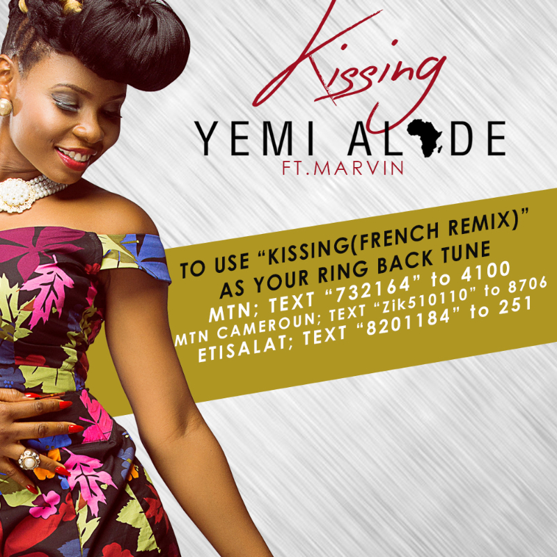 Yemi Alade - Kissing (Remix) ft. Marvin - Poster