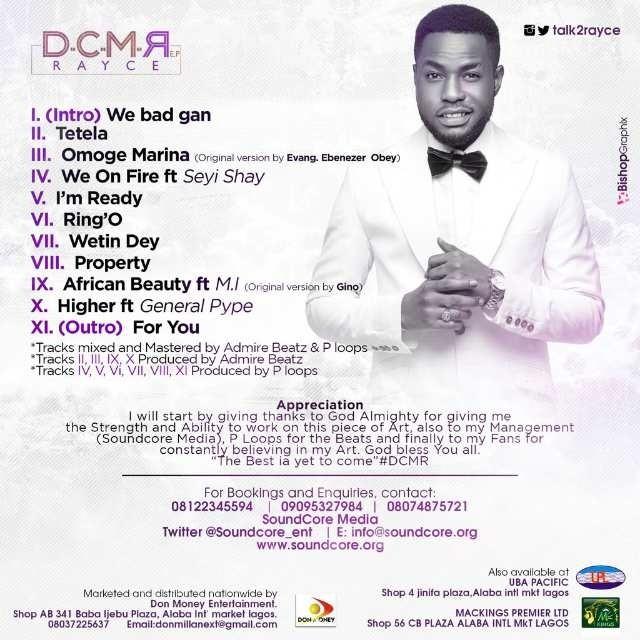 Rayce DCMR Tracklist