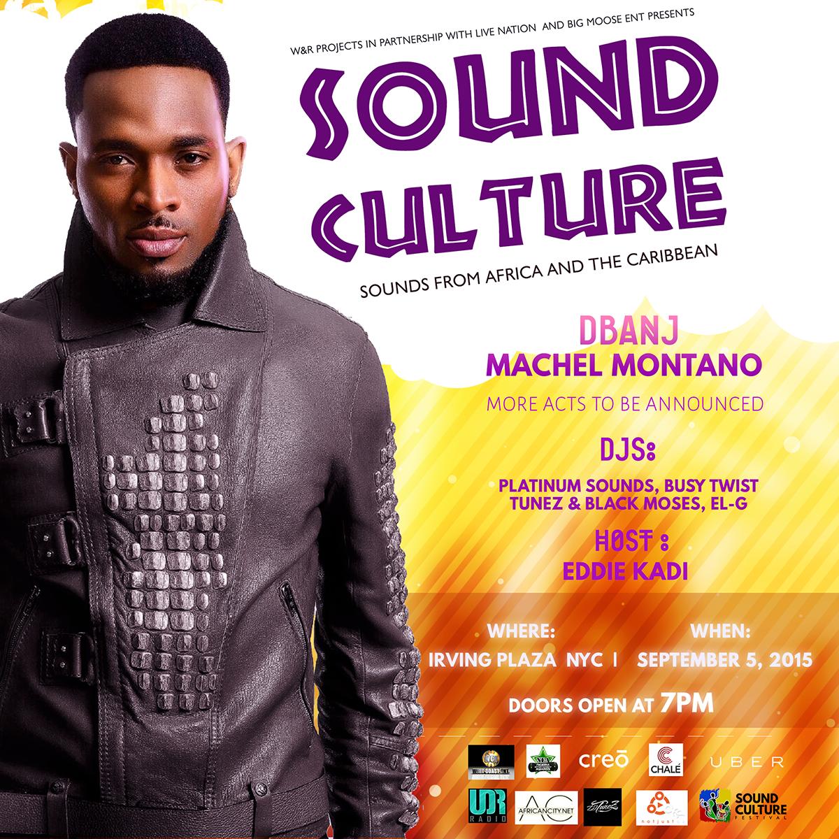 Live Nation Announces 1st Sound Culture Fest w/ D'banj & Machel Montano