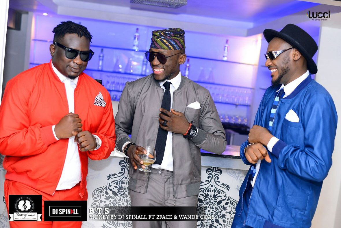DJ Spinall Shoots Video For Money Ft 2face Idibia Wande Coal