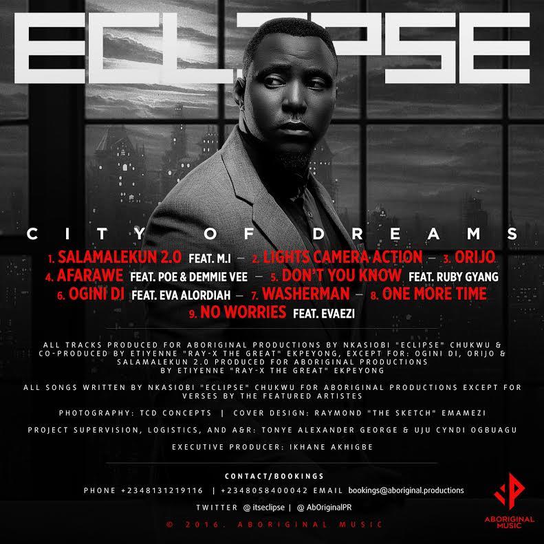 Eclipse City of Dreams Tracklist