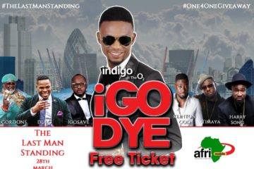 WIN TICKET: IGODYE #TheLastManStanding LIVE in London on MARCH 28th