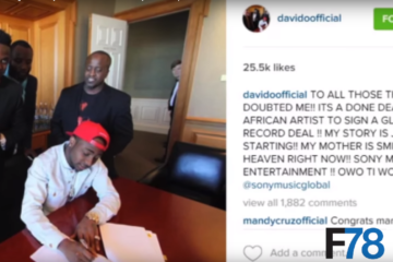 F78 NEWS: Davido SIgns To Sony Music, Shatta Wale & Samini Settle Beef + More