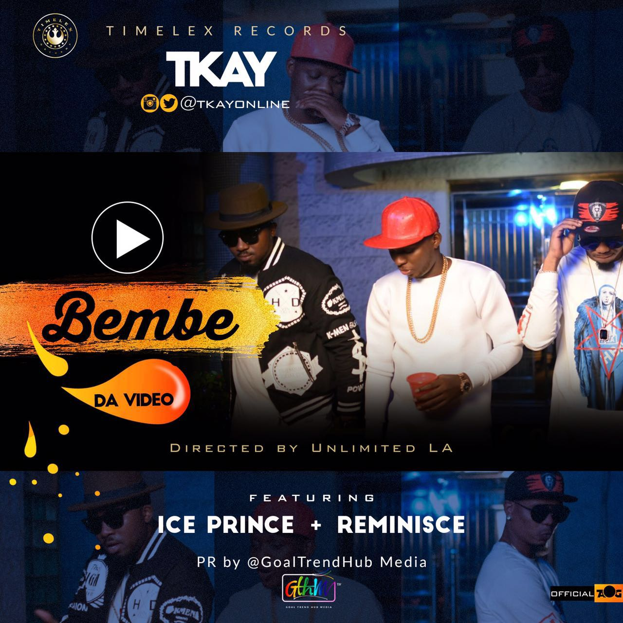 VIDEO: Tkay ft. Ice Prince x Reminisce - Bembe
