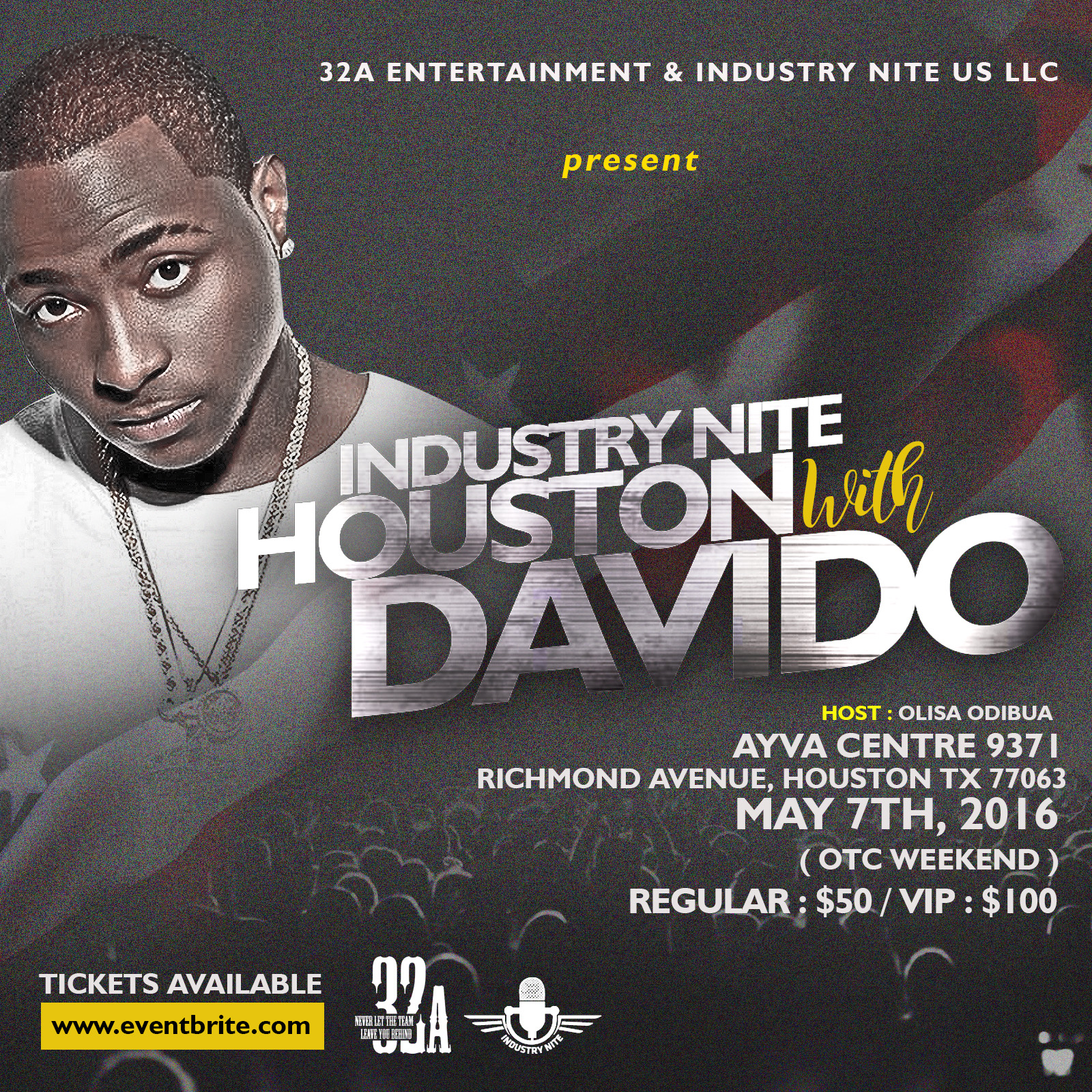 Win Tickets to See Davido @ Industry Nite Houston on May 7