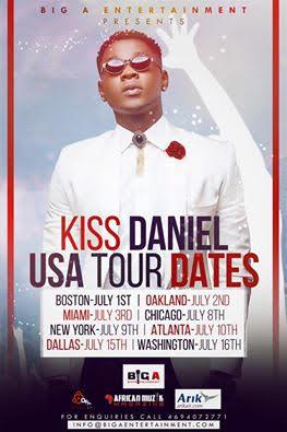 kiss daniel tour