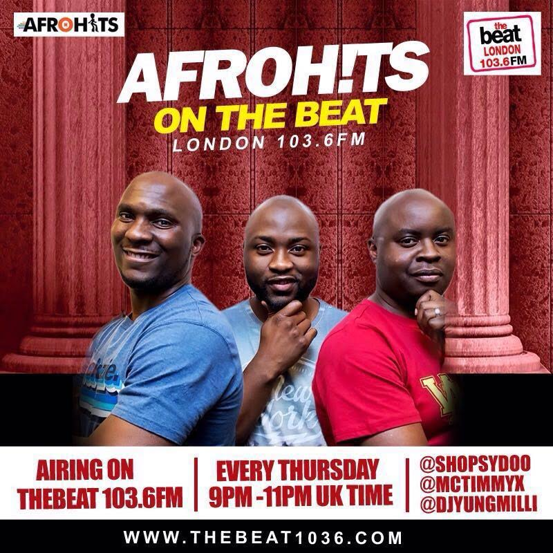 Afrohits On The Beat London, 103.6FM (01/09/16)