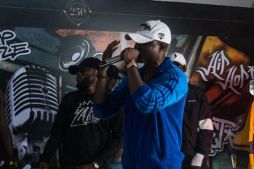 PICTURES: Vector, Dremo, Terry Da Rap Man Spotted at Hennessy Cypher