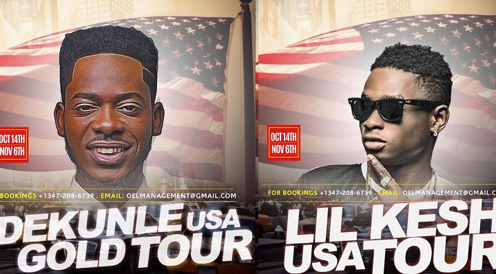 Adekunle Gold Lil Kesh US Tour