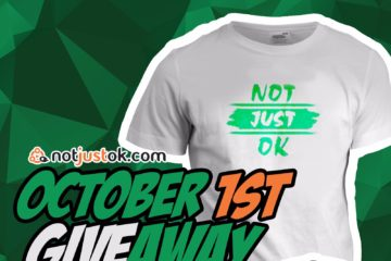 October 1st GiveAway: Win A NOTJUSTOK T-Shirt + Hat