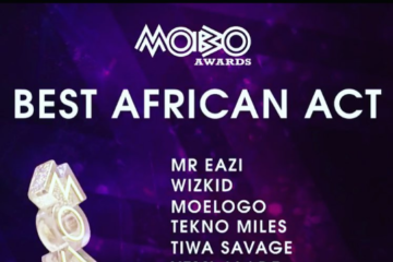 "Wizkid, Olamide, Tekno, Tiwa Savage, Mr Eazi, Yemi Alade Nominated for ""Best African Act"" @ MOBO Awards '16"
