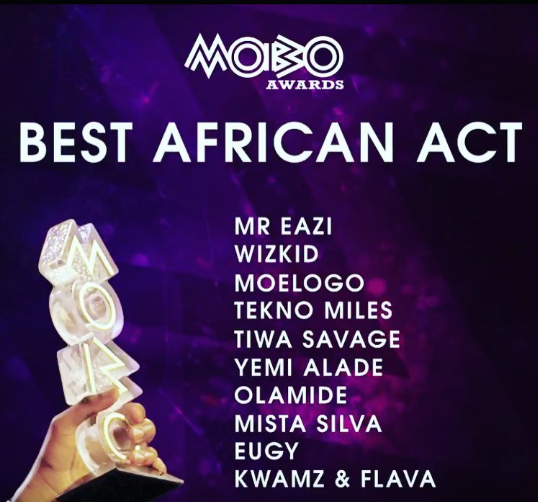 MOBO Awards 2016 Nominees