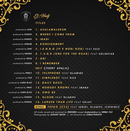 Reminisce El Hadj Tracklist