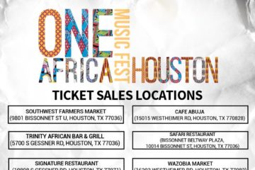 One Africa Music Fest, Houston | October 22 | Get Your Tickets NOW!
