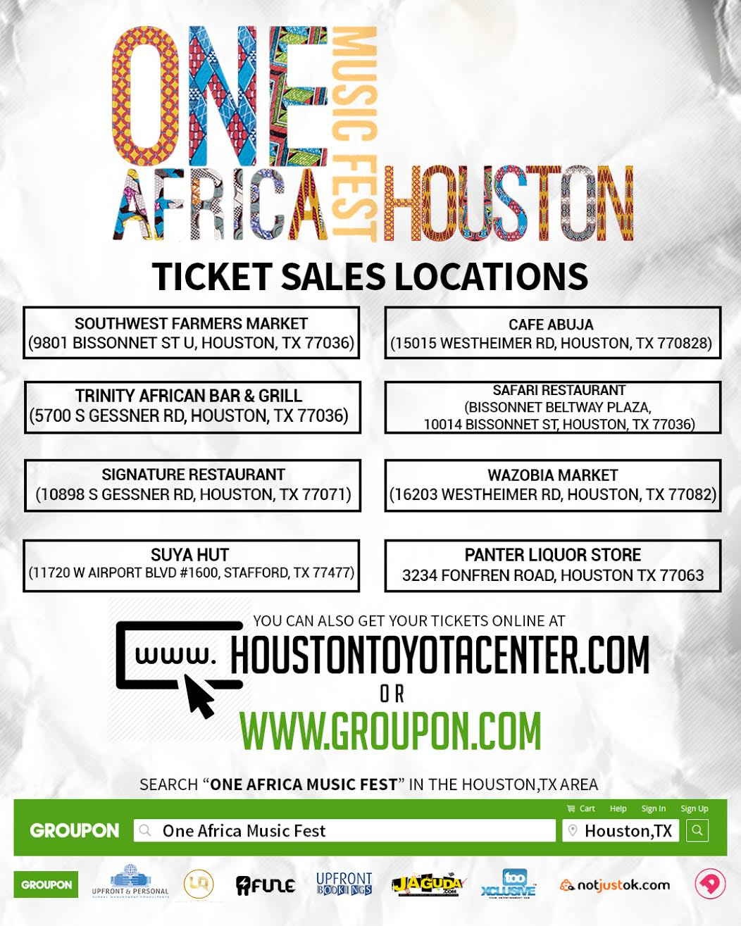 One Africa Houston Tickets