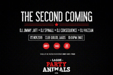DJ Jimmy Jatt, DJ Spinall, DJ Consequence, DJ Hazan All Gear Up For Lagos Party Animals Hosted by DJ Lambo