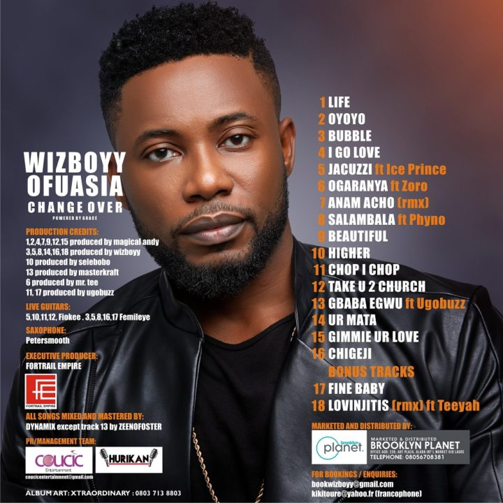 Wizboyy Unveils Album Art And Tracklist | Features Ice Prince, Phyno