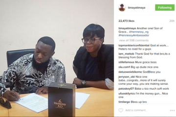 Timaya Signs New Endorsement Deal With Hennessy